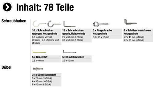 Schraubhaken-Sortimentskasten, 79- teilig - 3