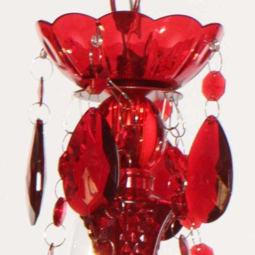 Roter Kronleuchter aus Arcyl Prismen - 6