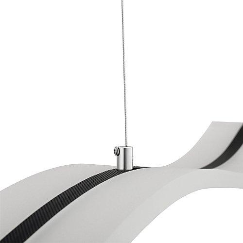 Moderne LED-Deckenleuchte, Wellen-Form, 40W - 3