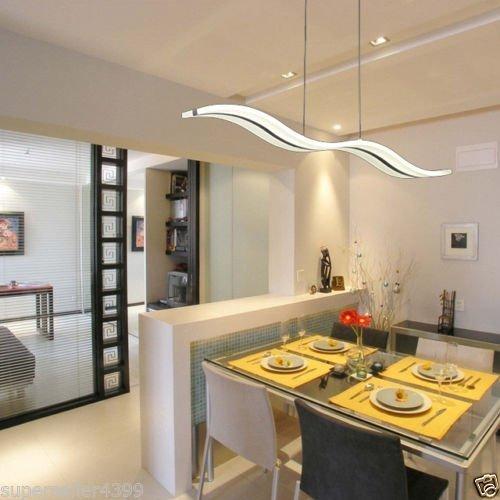 Moderne LED-Deckenleuchte, Wellen-Form, 40W - 8