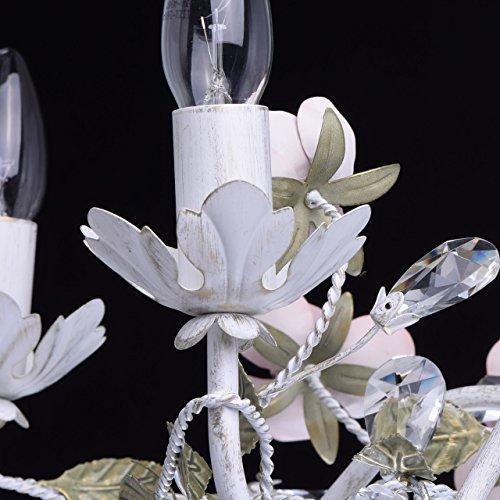 Florentiner Kronleuchter Chic-Stil Metall weiß - 6