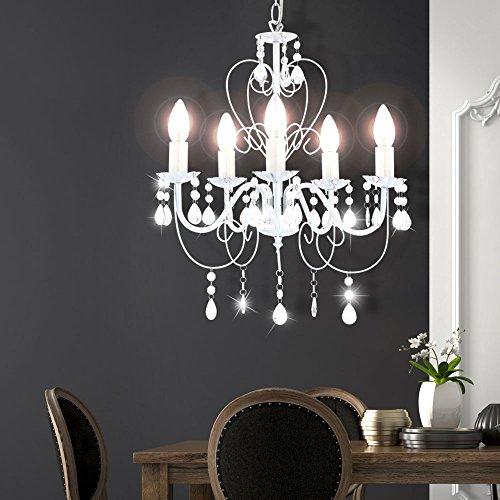 Kronleuchter Deckenlampe Lüster Hängelampe Beleuchtung Metall - 3