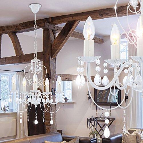Kronleuchter Deckenlampe Lüster Hängelampe Beleuchtung Metall - 4