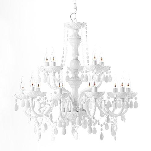 Design Kronleuchter - 15 armig - Acrylglas Design Kronleuchter