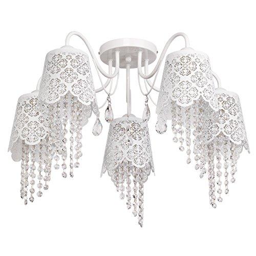 Deckenleuchte Kronleuchter weiß Metall