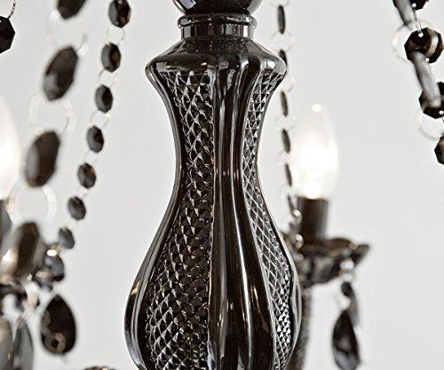 Hängeleuchte Gypsy Starlight Schwarz 55 cm 6-armig Kronleuchter - 3