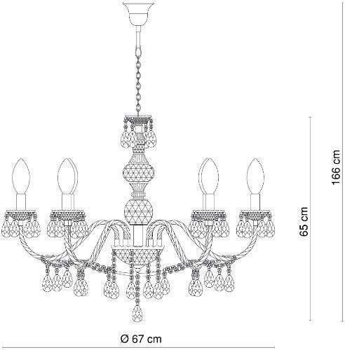 Hängeleuchte Kronleuchter Esszimmer Deckenbeleuchtung - 3