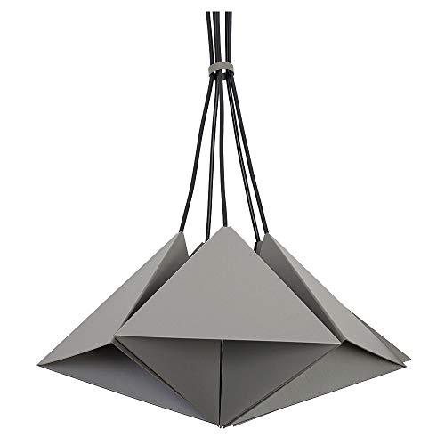 Graue Deckenleuchte im Dreieck Design