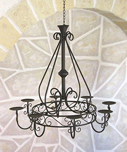 Kronleuchter 101318 Hängeleuchter D-60cm Deckenleuchter Kerzenständer Kerzenhalter aus Metall - 2
