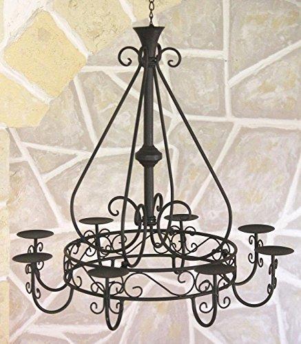 Kronleuchter 101318 Hängeleuchter D-60cm Deckenleuchter Kerzenständer Kerzenhalter aus Metall - 4