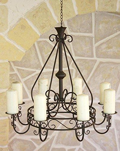 Kronleuchter 101318 Hängeleuchter D-60cm Deckenleuchter Kerzenständer Kerzenhalter aus Metall - 6
