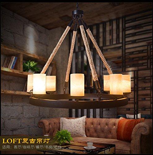 FAYM-Industrie Vintage Seil wrought Eisen Kerzen Leuchter