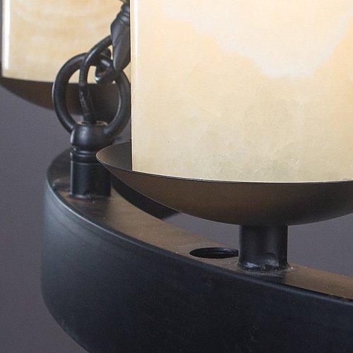 FAYM-Industrie Vintage Seil wrought Eisen Kerzen Leuchter - 3