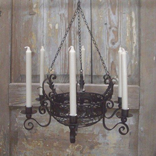 Kronleuchter mit Korb Landhausstil für Kerzen
