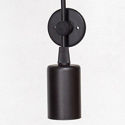 E27 DIY Retro Vintage Industrie Kronleuchter Pendelleuchten Hängelampe Höhenverstellbar (8-flammig) - 3