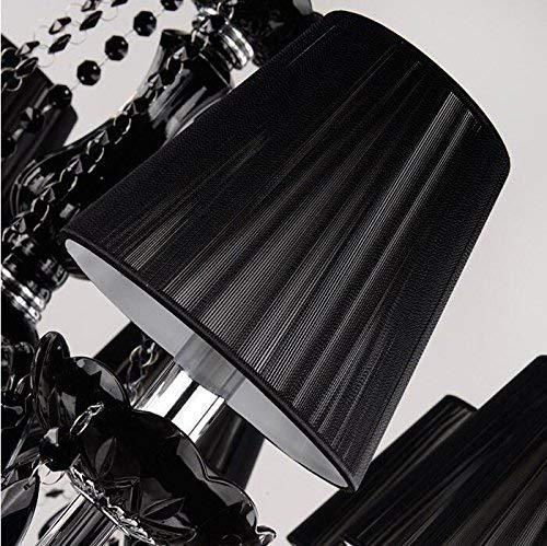 Aiwen Kerzen Lampenfassungen Schwarz Kristall-Kronleuchter - 8