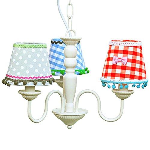 Lüster Kronleuchter Kinder-Kronleuchter 3 Lampenschirme