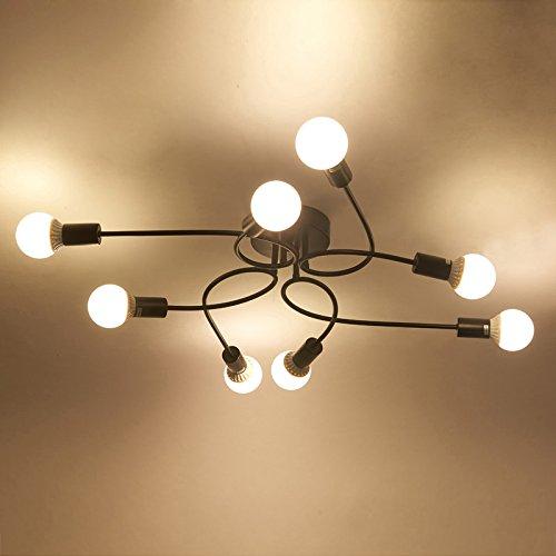 Industrielampe Deckleuchte Schmiedeeisen - 7