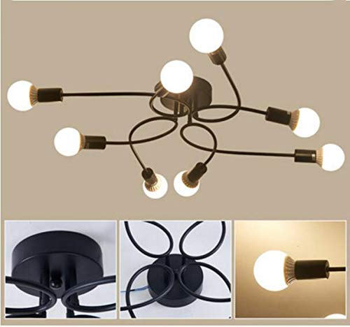 Industrielampe Deckleuchte Schmiedeeisen - 8