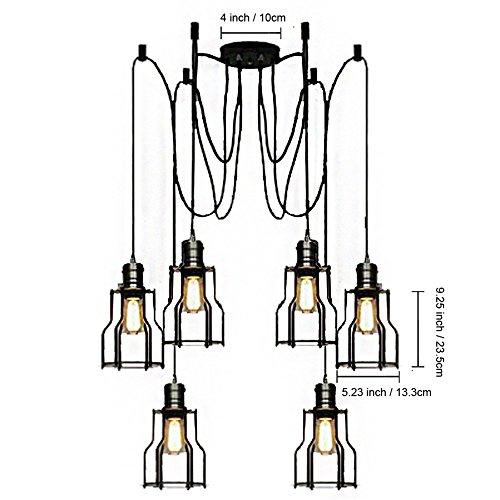 BAYCHEER 6 Flammige DIY Industrielampe Hängeleuchte - 6
