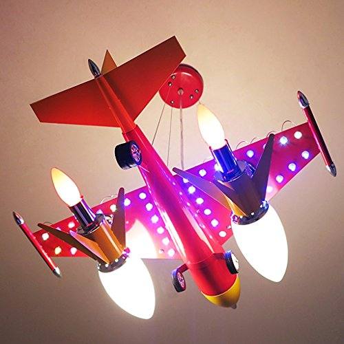 Guo Kinderzimmer Schlafzimmer Lichter Kämpfer Kreative Kronleuchter Junge Aircraft Lichter Eisen E14 Lampe Hafen - 2