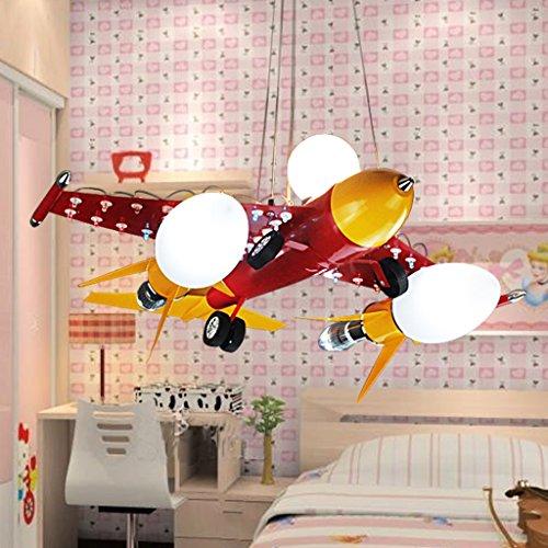 Kinderzimmer Kronleuchter Junge Flugzeug Eisen - 4