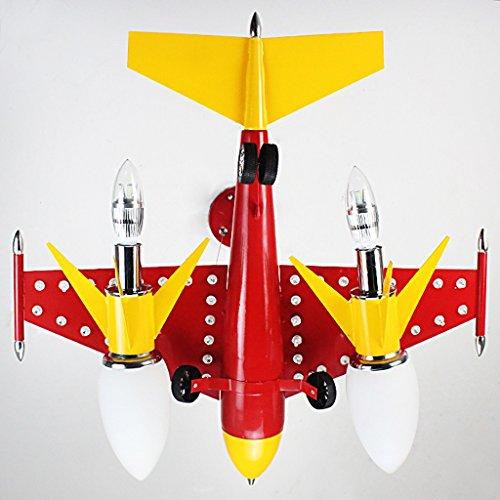 Guo Kinderzimmer Schlafzimmer Lichter Kämpfer Kreative Kronleuchter Junge Aircraft Lichter Eisen E14 Lampe Hafen - 4