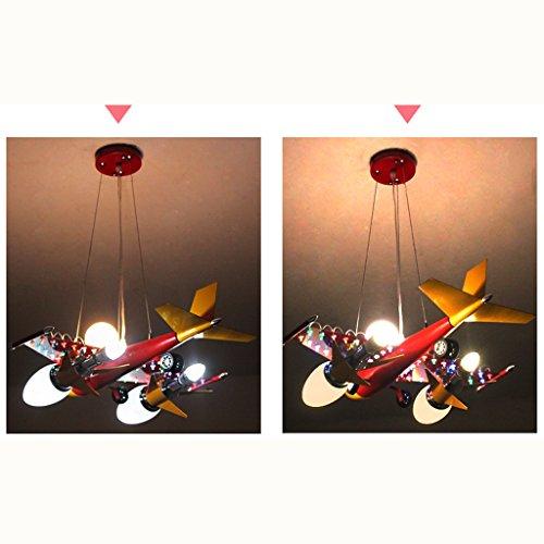 Guo Kinderzimmer Schlafzimmer Lichter Kämpfer Kreative Kronleuchter Junge Aircraft Lichter Eisen E14 Lampe Hafen - 5