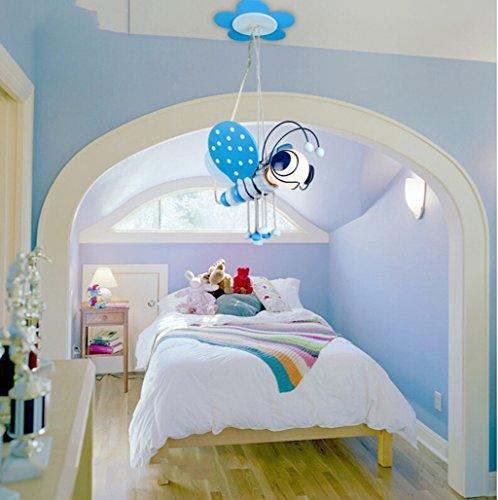 Kinderzimmer Kronleuchter Jungen-Mädchen-Kind Schlafzimmer Lampen Cartoon kreative reizende Persönlichkeit Bee LED-Beleuchtung ( farbe : Blau ) - 2