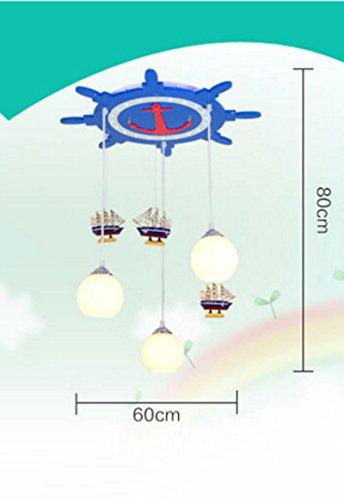 Mittelmeer Rudder Kinderzimmer Chandelier Jungen und Mädchen Kinderschlafzimmer Beleuchtung LED-kreative Karikatur-Lichter - 2