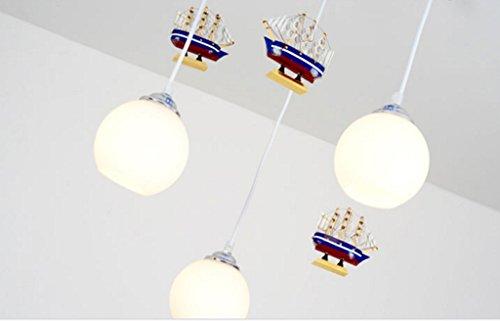 Mittelmeer Rudder Kinderzimmer Chandelier Jungen und Mädchen Kinderschlafzimmer Beleuchtung LED-kreative Karikatur-Lichter - 3