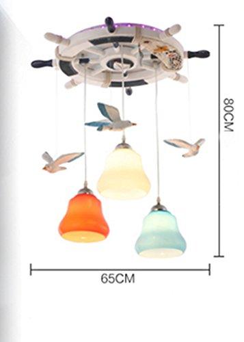 Kinderzimmer Kronleuchter Mittelmeer Rudder Seagull Schlafzimmer Kronleuchter Jungen und Mädchen Kreative LED-Augen Temperatur Einfache Xin Licht - 3