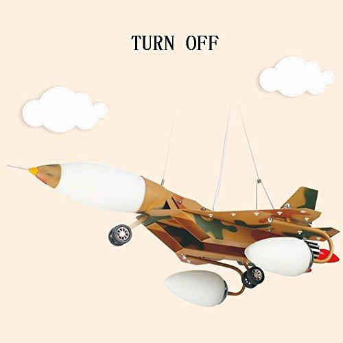 LED-Karikatur-kreative Pers5onlichkeit-Tarnungs-Flugzeug-Kinderzimmer-Eisen-Kronleuchter-Schlafzimmer-Jungen-Raum-Kronleuchter - 6