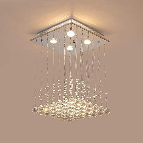 Saint Mossi ® Modern Regen Kronleuchter Kristall Leuchter - 2