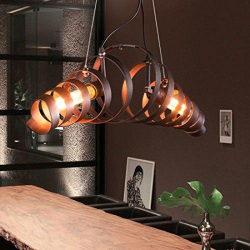 BAYCHEER Industrielampe Kronleuchter Eisen Lampe Länge 70cm Bar Loft Design Leuchte - 8