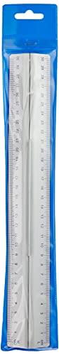 Wedo 0525235 Lineal aus Aluminium 30 cm mit Griff für Rechts- und Linkshänder mit rutschsicherer Gummieinlage - 2