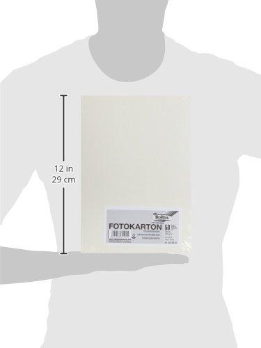 Folia 614/50 01 – Fotokarton 300 g/m², DIN A4, 50 Blatt, perlweiß - 6