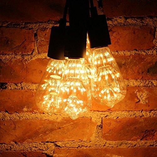 Vintage Beleuchtung, VSOAIR LED-Birnen mit 3W ST64 Weinlese-Edison-Feuerwerk - 4