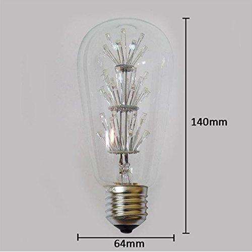 4 Packung Vintage Beleuchtung, VSOAIR LED-Birnen mit 3W ST64 Weinlese-Edison-Feuerwerk-dimmable Birnen-Beleuchtung-warmem Weiß 2200K - 3