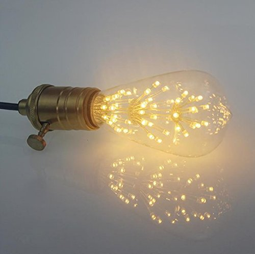 4 Packung Vintage Beleuchtung, VSOAIR LED-Birnen mit 3W ST64 Weinlese-Edison-Feuerwerk-dimmable Birnen-Beleuchtung-warmem Weiß 2200K - 4