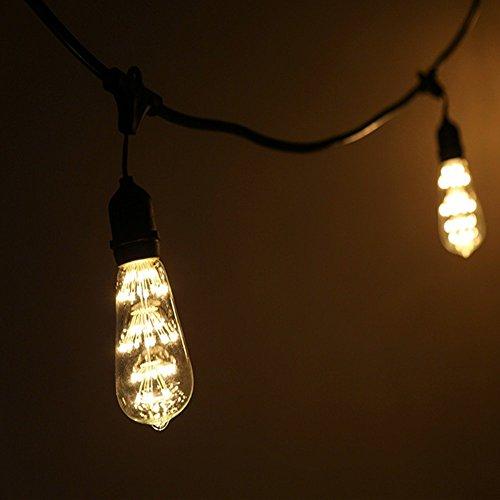 Vintage Beleuchtung, VSOAIR LED-Birnen mit 3W ST64 Weinlese-Edison-Feuerwerk - 2