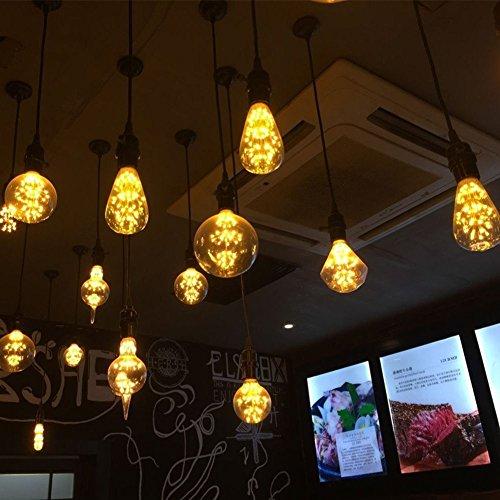 4 Packung Vintage Beleuchtung, VSOAIR LED-Birnen mit 3W ST64 Weinlese-Edison-Feuerwerk-dimmable Birnen-Beleuchtung-warmem Weiß 2200K - 7