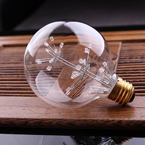 4 Packung Vintage Beleuchtung, VSOAIR LED-Birnen mit 3W G95 Weinlese-Edison-Feuerwerk-dimmable Birnen-Beleuchtung-warmem Weiß 2200K - 3