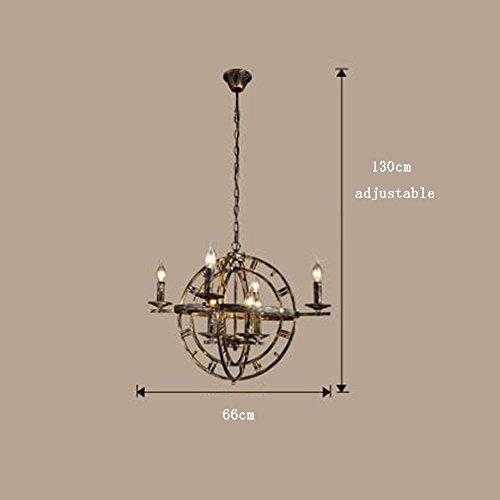 Kronleuchter- Amerikanische Retro- Art- und Weisepers5onlichkeit-runde LED-Art- und WeiseIndustrie-Wind-Eisen-Leuchter-Gaststätte-Wohnzimmer-Stab-Leuchter (Farbe wahlweise freigestellt) --Innen Kronleuchter ( Farbe : A ) -