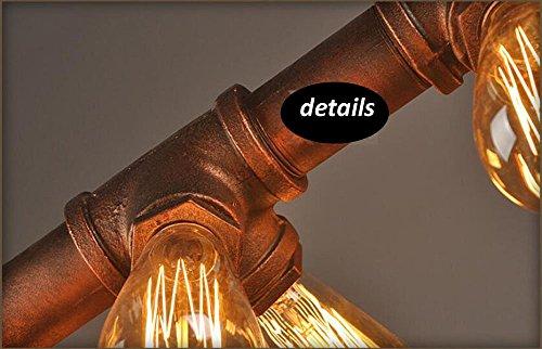 Klassische Wasserrohr Geformt Hängelampe Industrie Metallwasserrohr - 7