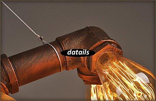 Klassische Wasserrohr Geformt Hängelampe Industrie Metallwasserrohr - 8