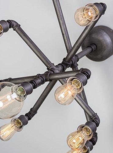 Steampunk Rohr Kronleuchter Vintage Industrie Leuchten Anhänger 9Edison Leuchtmittel -
