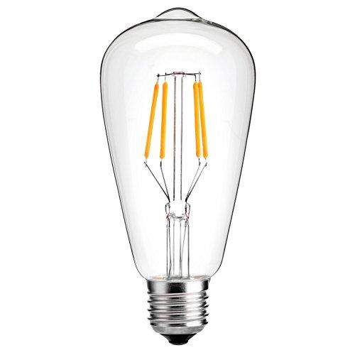 Edison Vintage LED-Lampe Oak Leaf Glühbirne, dimmbar Ersetzt 25W warmweiß - 2700K 330 Lumen [Energieklasse A+]