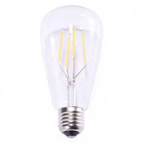 Edison Vintage LED-Lampe Oak Leaf Glühbirne, dimmbar Ersetzt 25W warmweiß – 2700K 330 Lumen [Energieklasse A+] - 7