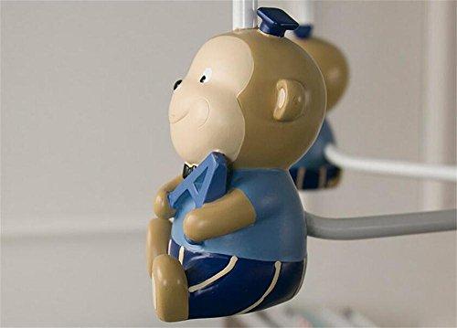 Uncle Sam LI- Nordic Cartoon Cute Resin Kleine Affe Kinder Kronleuchter Einfache Kreative Junge Und Mädchen Kinder Schlafzimmer Kronleuchter ( Farbe : Pink-5 Köpfe ) -